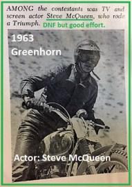 1963 Greenhorn a12 actor Steve McQueen on Triumph