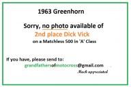 1963 Greenhorn a23 2nd No photo of Vick Dick