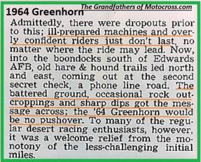1964 Greenhorn z46, some drop outs, then got tougher..
