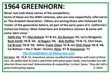 1964 Greenhorn z50 Brunson, Bergquist, Rogers Dean, Brown