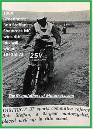 1964 Greenhorn z54 Bob Steffan 4th will win 1970 & 1972...