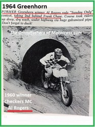 1964 Greenhorn z55 Sun Only, Al Rogers, Checkers MC...