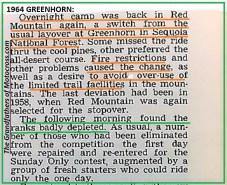 1964 Greenhorn z61 RED MT. AGAIN, NOT SEQUOIA