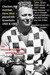 1965 d5a Greenhorn 5th Gene Hirst Checkers MC