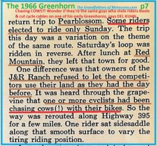 1966 r15 Greenhorn, J&R Ranch refused land use, riders chased cows