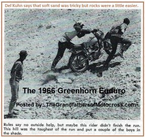 1966 r19b Greenhorn, ules say no help, likely didn't finish