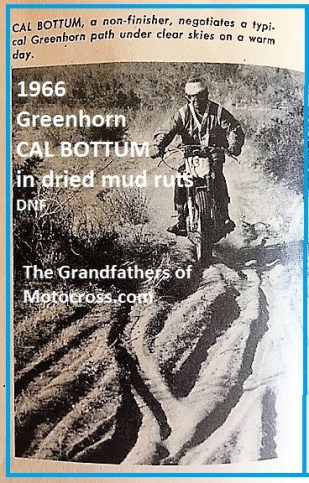 1966 r20b Greenhorn dried mud ruts, CAL BOTTOM