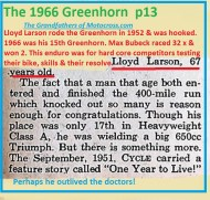 1966 r27a Greenhorn, Lloyd Larson, one yr to live