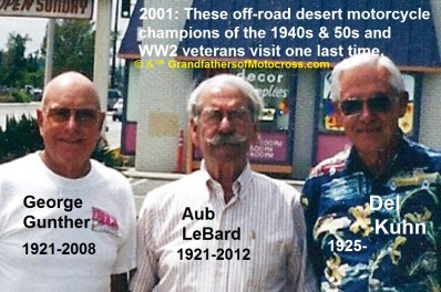 1966 s14 but 2001 Off Road champions George Gunther, Aub LeBarb & Del Kuhn visit