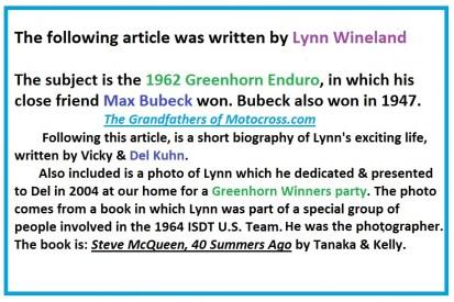 Bio of Lynn Wineland a5 Steve McQueen 40 Summers Ago