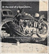 z6 Greenhorn GREAT PHOTO of exhauster racer sitting on ground 1953