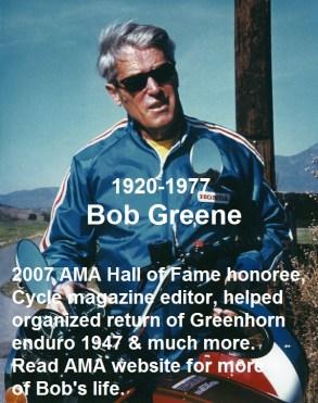 1967 B12 but 2007 Bob Green AMA, Cycle mag. Editor & Greenhorn organizer
