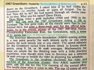 1967 B7 Greenhorn, 3 week wait for results, Dave Ekins wins
