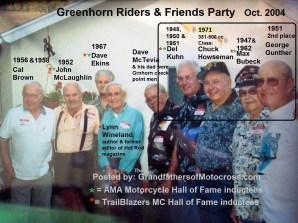1967 s11 Greenhorn 2004 former winners, D. Kuhn, C. Howseman, Bubeck & 2nd Gunther