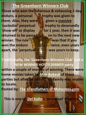 1968 a10 Greenhorn trophy & WINNERS CLUB