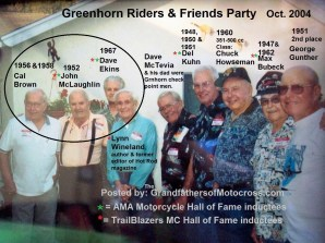 1968 s10 Greenhorn 2004 ex winners, Cal Brown, J. McLaughlin, D. Ekins
