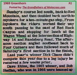 1969 Greenhorn a3 Wagon Wheel, Dick Chase injured, D. Ekins, Steffan