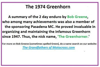 1974 d36a Greenhorn summary by Bob Greene