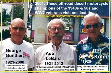 1974 s14 but 2001 Off Road champions George Gunther, Aub LeBarb & Del Kuhn visit