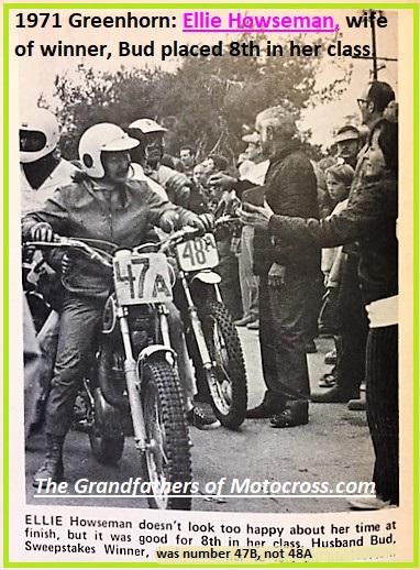 1971 Greenhorn b38a Ellie Howseman, 8th in her class. Husband Bud won.