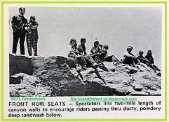 1971 Greenhorn b8 spectators above sandwash canyon