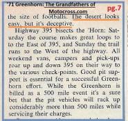 1971 Greenhorn c15 desert looks easy but is deceptive