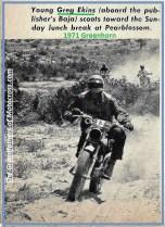 1971 Greenhorn c8 number 13, Greg Ekins on dad, Dave Ekins Baja