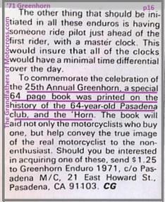 1971 Greenhorn d35 Special 25th anniversary book, wish I had 1