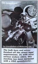 1971 Greenhorn d6c horn, mirror, VDO speedometer