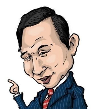 Lee Myung-bak cartoon