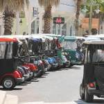 Golf carts are more popular than ever with tourists