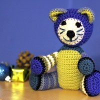More Colourful Crochet Stripy Cats for the Cat Gallery