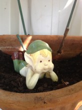 This little guy was my Grans. My son kept him after she passed away. Hes a Devonshire pixie :)