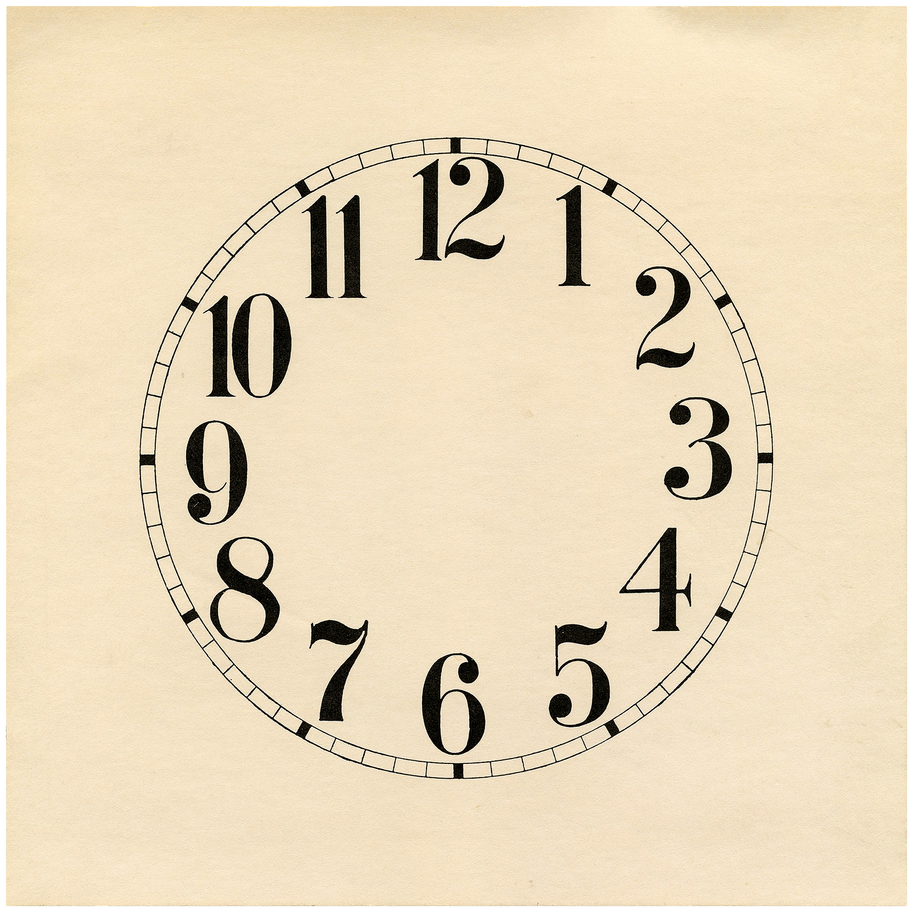 Make Your Own Clock Face Template