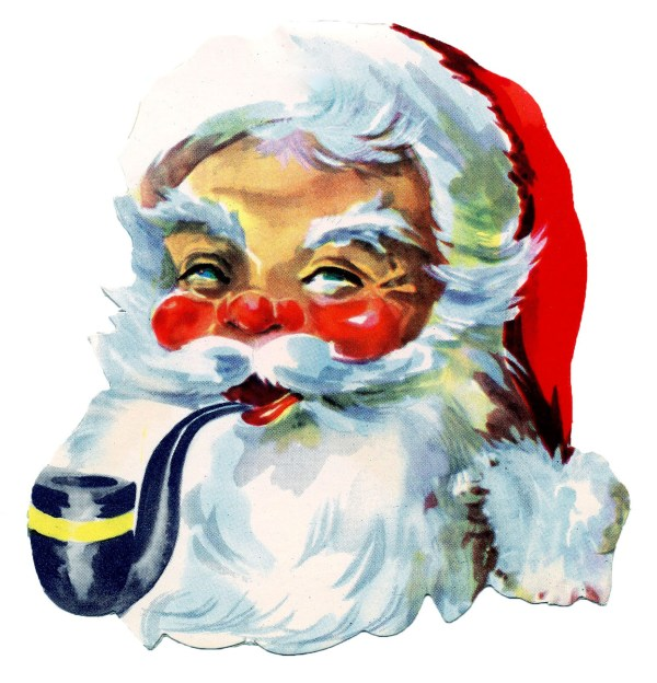 Free Vintage Clip Art Santa Santa Santa! The