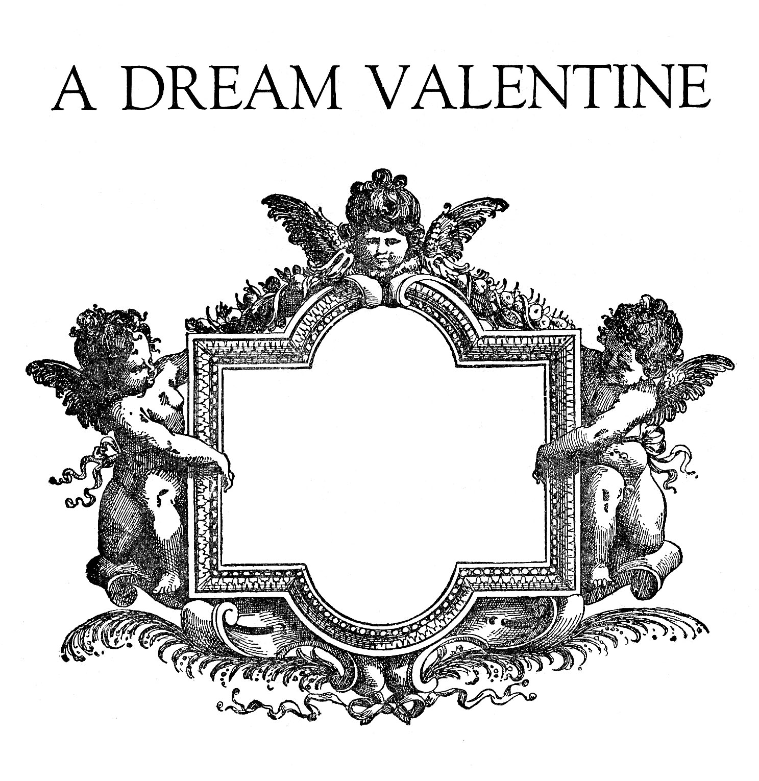 Valentine Frame Clipart Graphicsfairy008bw2