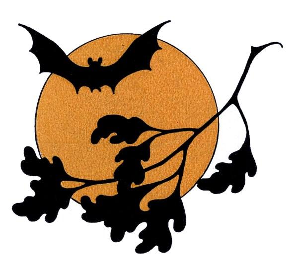 vintage halloween clip art - bat