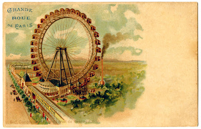 Vintage Graphic Paris Ferris Wheel The Graphics Fairy