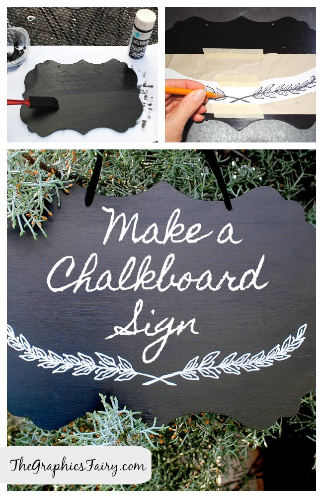 DIY Tutorial Painted Chalkboard Sign The Graphics Fairy