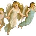 Antique image especially pretty angel children the graphics fairy
