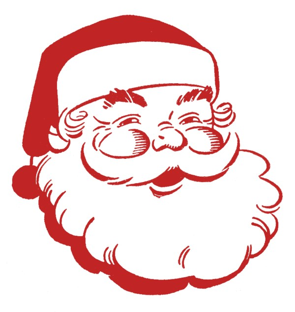 retro christmas clip art - jolly