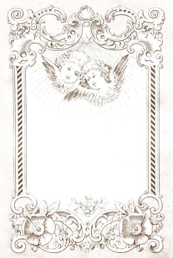 Digital Frame Image European with Angels The Graphics