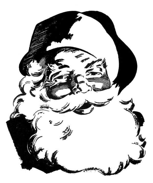Retro Christmas Clip Art Wonderful Santa The Graphics