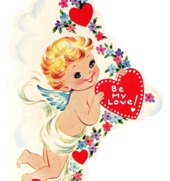 free vintage image cupid with heart [ 1138 x 1600 Pixel ]