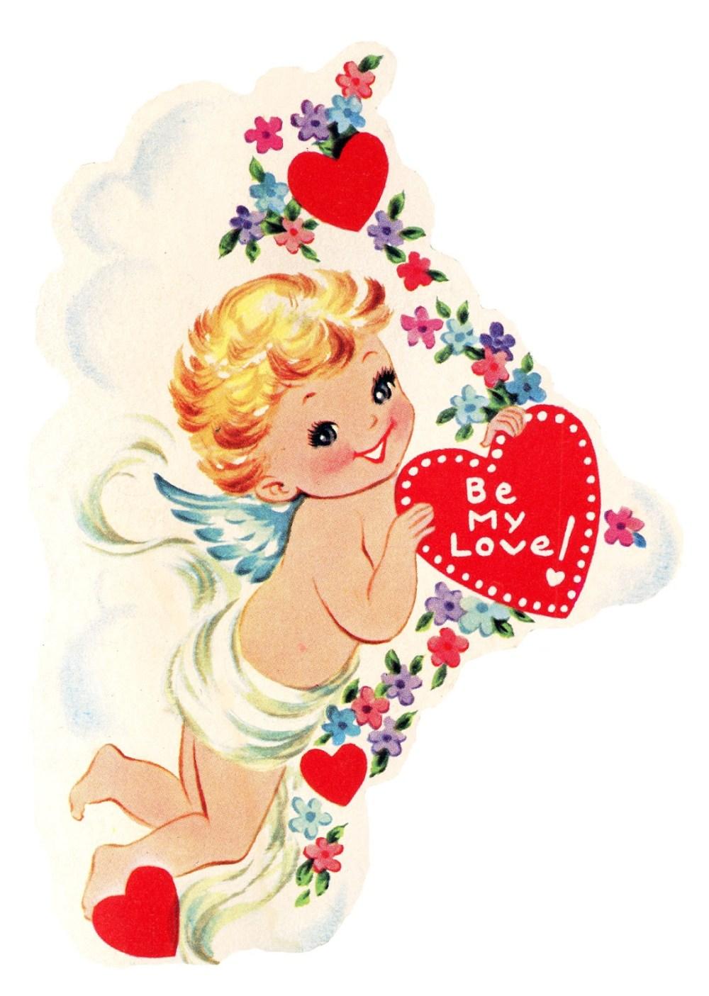 medium resolution of free vintage image cupid with heart