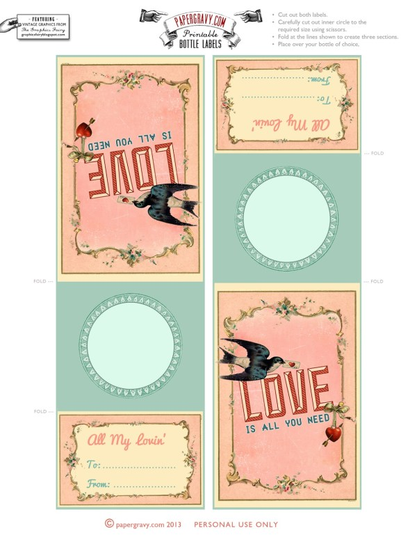 Valentine Printables Labels Flags Cupcake Toppers