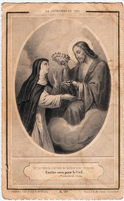 Antique French Holy Card The Graphics Fairy