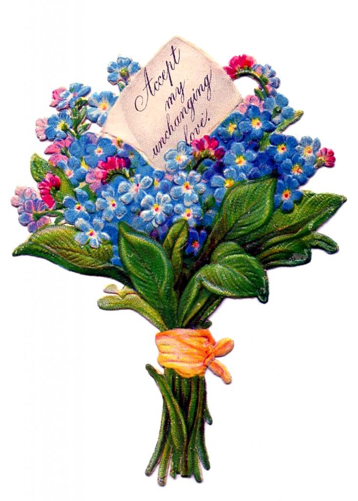 Floral Bouquet  Free Vintage Images  2 Versions  The
