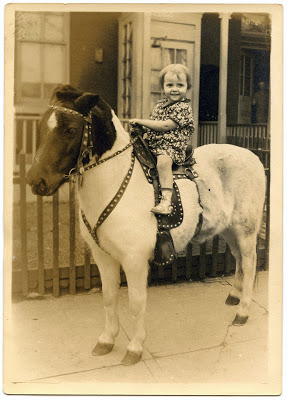 Old Photo Cute Child On Pony The Graphics Fairy
