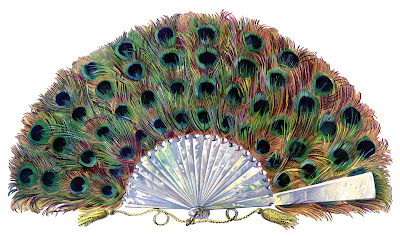 Extraordinary Paper Peacock Fan The Graphics Fairy